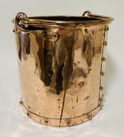 Antique Riveted Copper Bucket (5 of 14)