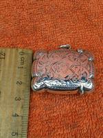 Antique Sterling Silver Hallmarked Vesta Gold Gilt 1921, John Rose (10 of 12)