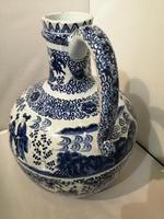 19th Century Blue & White Dutch Delft Flagon / Ewer (8 of 14)