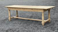 Large Bleached Oak Farmhouse Dining Table with Extensions & Storage (8 of 35)
