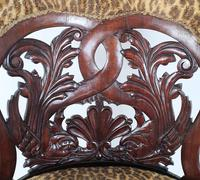Mid-19th Century French Carved Walnut Desk Chair (6 of 12)