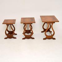 Antique Regency Style Figured Walnut Nest of Tables (2 of 12)