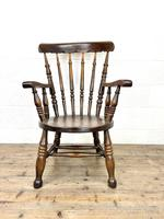 Antique 19th Century Penny Armchair (3 of 9)