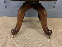 Victorian Leather Upholstered Revolving Desk Chair c.1885 (12 of 16)