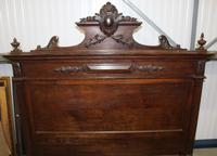 1900's King Size Carved Oak Empire Style Bed Frame (4 of 4)