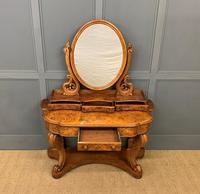 Victorian Period Burr Walnut Duchess Dressing Table (4 of 18)