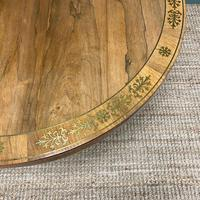 Spectacular Mellow Rosewood and Brass Inlaid Regency Circular Centre Table (3 of 8)
