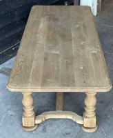French Bleached Oak Refectory Farmhouse Dining Table (15 of 26)