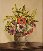 """Oil Painting by William Johnston """"A Floral Study"""" (2 of 5)"""