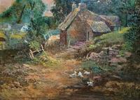 Original 19th Century British Farmland Countryside Landscape Oil Painting (4 of 11)