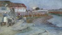 Walter G.Schroder Watercolour 'The old wharf at Bosham, Sussex'