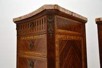 Pair of Antique French Marble Top Slim Chests of Drawers (7 of 11)