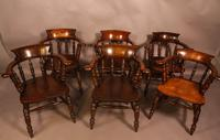 Harlequin Set of 6 Victorian Captains Chairs (7 of 10)