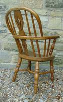 Child's Antique Oak Windsor Chair (4 of 9)