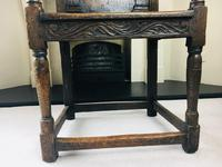 Rare English Charles II Oak Wainscot Armchair Likely to be from Battle Abbey c.1660-1685 (11 of 20)