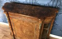 Victorian Burr Walnut Inlaid Credenza With Ormolu Mounts (14 of 27)