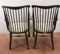 1918 Pair of Arts and Crafts style Oak Arm Chairs (2 of 4)