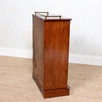 Music Cabinet Glazed Inlaid Walnut Bookcase 19th Century (6 of 10)