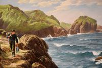 """Oil Painting by David James """"A Cornish Coastal View"""" (3 of 8)"""