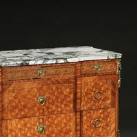 Late 19th Century French Gilt Bronze Mounted Tulipwood & Kingwood Marble Topped Commode (2 of 10)