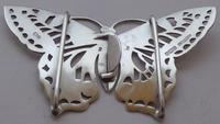 Rare Art Nouveau 1900 Hallmarked Silver Nurses Belt Buckle Butterfly Design (10 of 10)