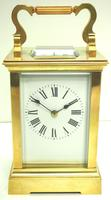 Good Antique French 8-day Carriage Clock Bevelled Case Large Dial & Carry Handle (2 of 13)