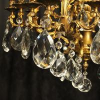 Italian Pair Bronze 20 Light Antique Chandeliers (4 of 10)