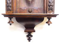 Antique Rocket Cased Single Walnut 8-Day Vienna Regulator Wall Clock by Lenzkirch (6 of 8)