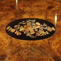 Victorian Inlaid Walnut Centre Table with Drawer (5 of 9)