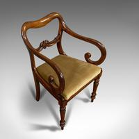 Antique Scroll Armchair, English, Mahogany, Buckle Back, Seat, William IV, 1835 (6 of 11)