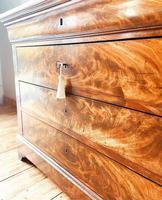 Flamed Mahogany Drawers / Louis Philippe Commode / Sideboard / Marble (7 of 9)