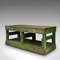 Large Antique Factory Mill Table, English, Pine, Industrial, Victorian c.1900 (3 of 10)