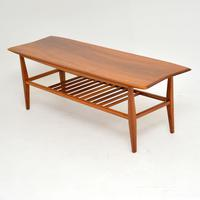 1960's Vintage Inlaid Walnut Coffee Table (7 of 9)