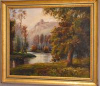 River Landscape Oil Painting by E.P.Baker (5 of 6)