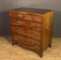Georgian Caddy Top Mahogany Chest of Drawers (3 of 7)