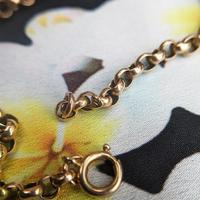 """Vintage Women's 9ct Yellow Gold Belcher Chain Necklace 17.5"""" (4 of 4)"""