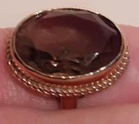 9 Carat Gold Ring with Smokey Quatz (2 of 2)