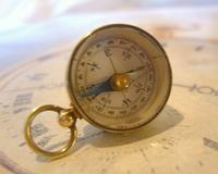 Vintage French Pocket Watch Chain Compass Fob 1940s Chunky Brass Drum Case Fwo (10 of 10)