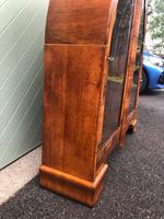 Art Deco Figured Walnut Display Cabinet (8 of 10)