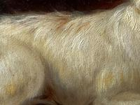 """19th Century Oil Painting Sporting """"Game Dogs"""" Signed Robert Cleminson (30 of 48)"""