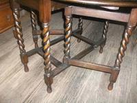Carved Oak Gateleg Barley Twist Dining Table (5 of 5)