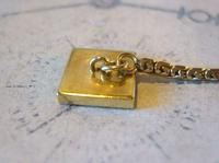 Antique Pocket Watch Chain 1930s Art Deco 12ct Gold Plated With Button Hole Fob (7 of 8)