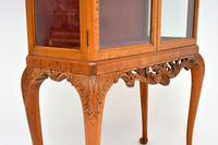Queen Anne Style Burr Walnut Display Cabinet c.1930 (5 of 11)