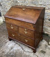 18th Century Georgian Oak Crossbanded Bureau (22 of 22)