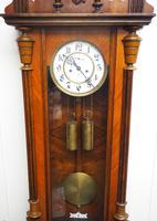 Gustav Becker Antique Walnut & Ebonised 8-day Twin Weight Striking Vienna Regulator Wall Clock (6 of 14)