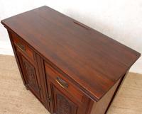 Dresser Base Walnut Edwardian Sideboard Cabinet (7 of 12)