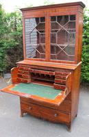 1880 Mahogany Secretaire Bookcase (2 of 5)