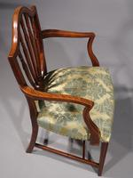 Exceptional Pair of George III Period Hepplewhite Elbow Chairs (6 of 7)