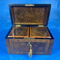 Victorian Tunbridge Ware Twin Section Tea Caddy (4 of 18)