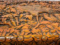 Chinese Camphor Wood Carved Birds & Flowers Chest Coffee Table (17 of 34)